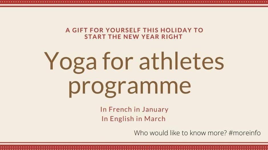 Yoga pour athlètes, programme en ligne de 8 semaines