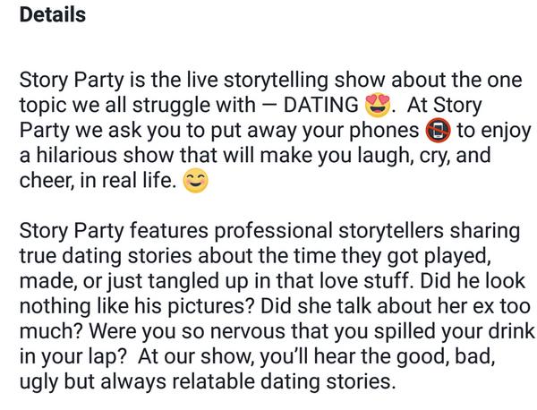 Hilarious dating stories