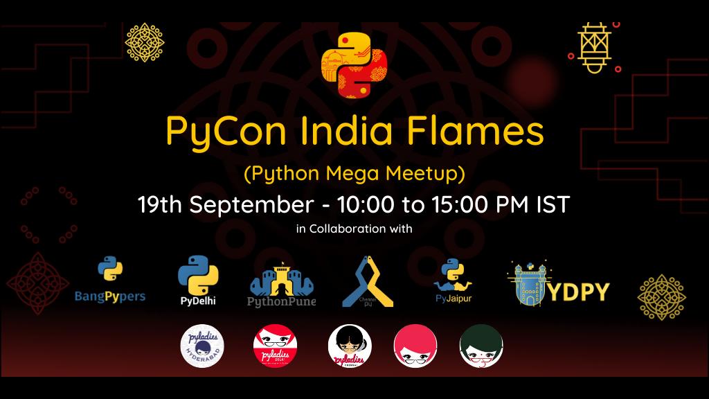 PyCon India Flamesposter