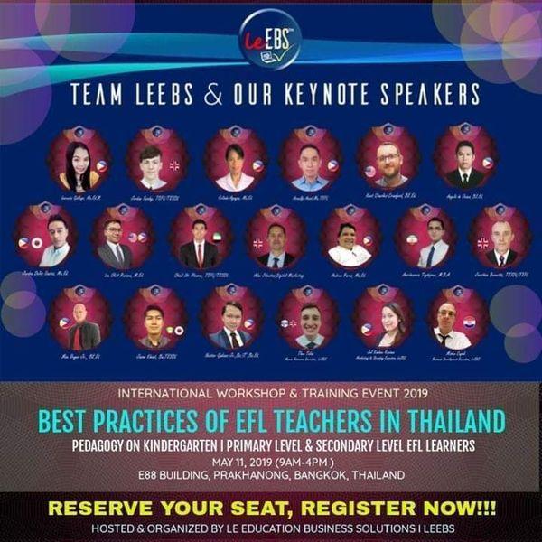 BEST PRACTICES OF EFL TEACHERS IN THAILAND | Meetup