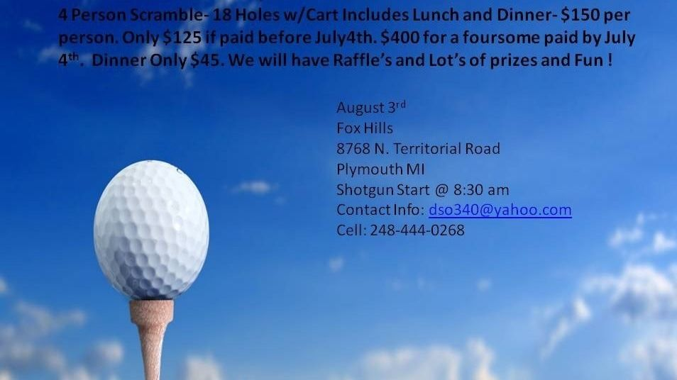 5th Annual David G. Ormsby Memorial Golf Outing