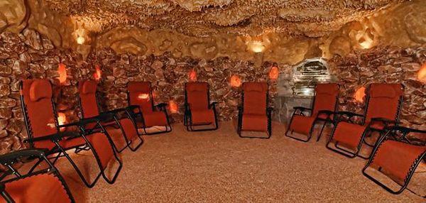 Reiki In A Salt Cave Room With Tibetan Sound Bowls