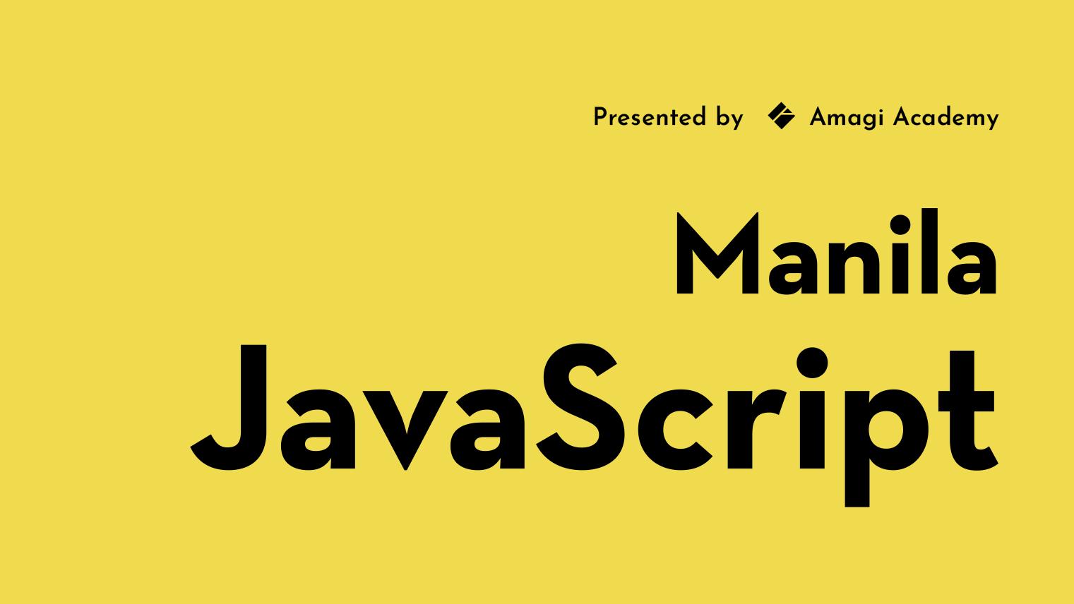 Manila JavaScript
