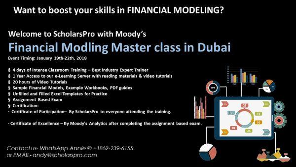 4 DAYS FINANCIAL MODELING MASTER CLASS IN DUBAI | Meetup