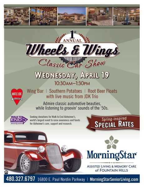 MorningStar Of Fountain Hills Presents St Wheels Wings Classic - Fountain hills car show