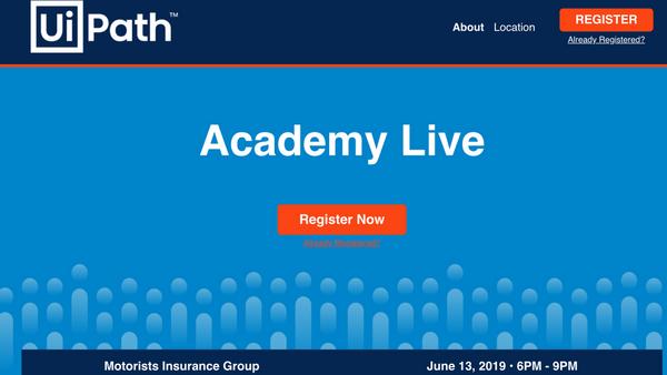 UIPATH Academy Live - Free RPA primer workshop | Meetup