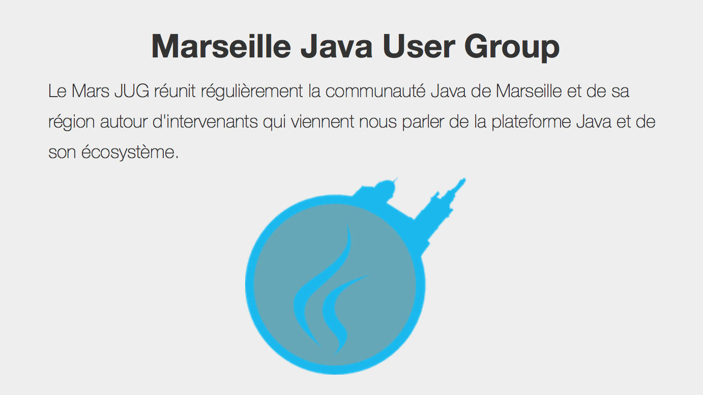 Marseille Java User Group Meetup