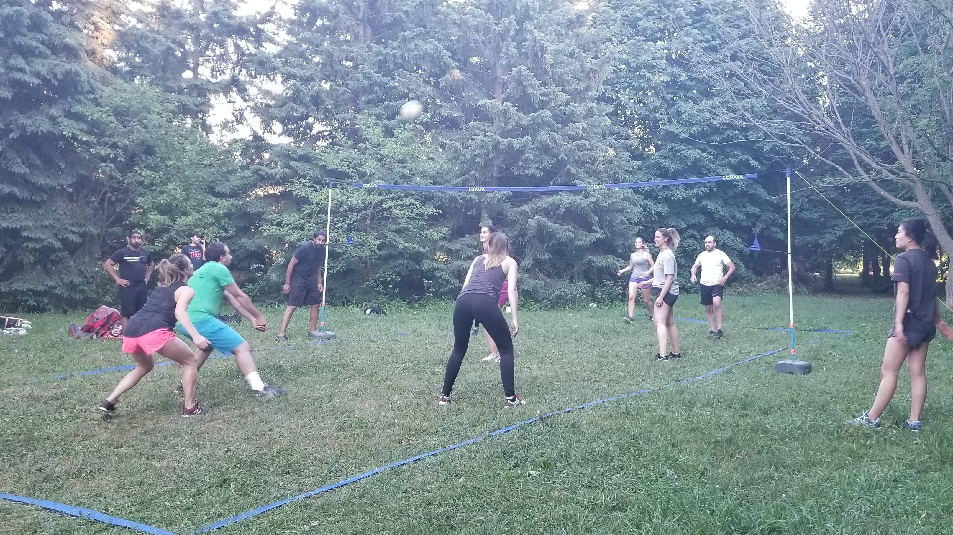 Entraînement supervisé volley-ball