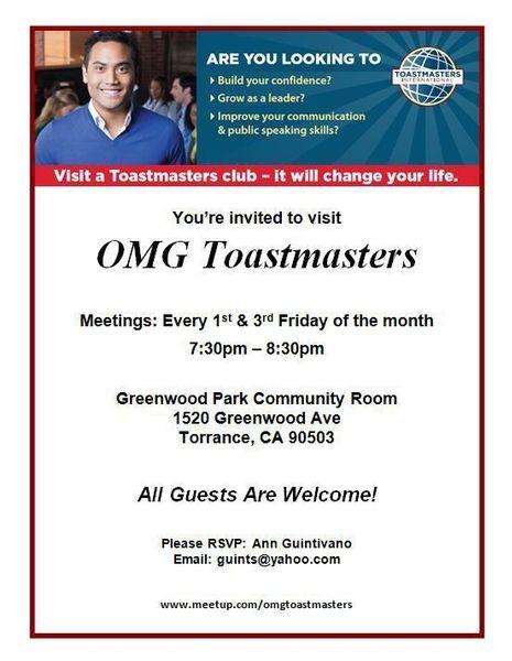 omg toastmasters club torrance ca torrance ca meetup
