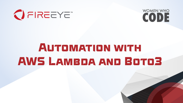 NoVa: Automation with AWS Lambda and Boto3 | Meetup