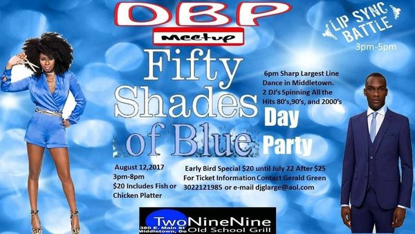 50 Shades Of Blue Day Party @ TwoNineNine Old School Grill | Middletown | Delaware | United States