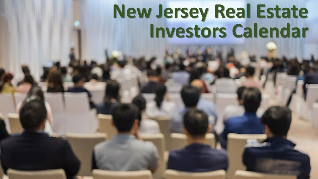 New Jersey Real Estate Investors Calendar