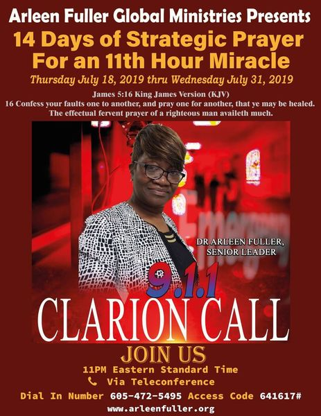 14 Days of Strategic Prayer for an 11th hour Miracle   Meetup