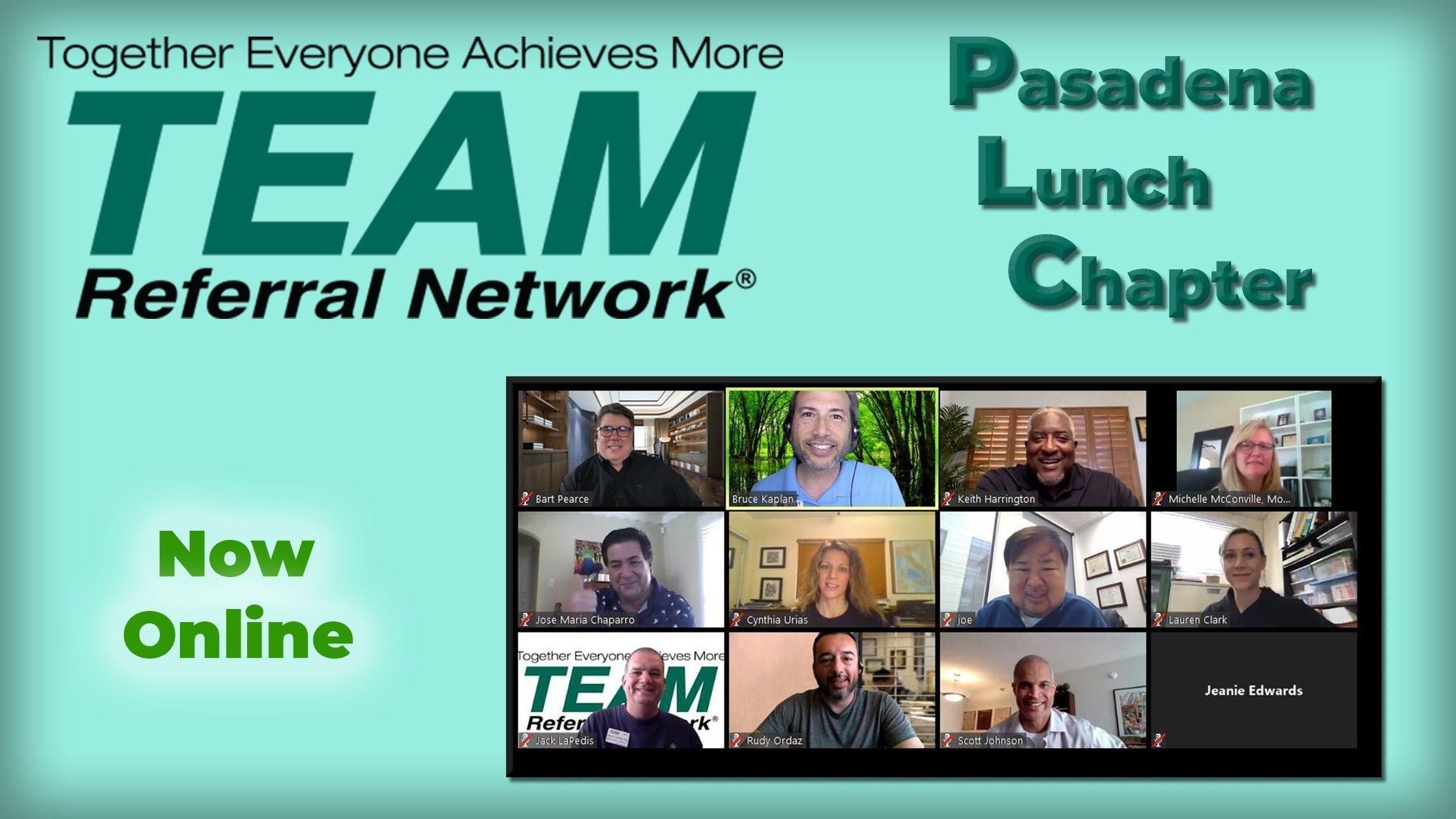 Pasadena Lunch Chapter - Don't Hire a Sales Team - JOIN One!
