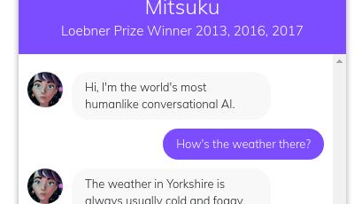 The Award-Winning Mitsuku Chatbot with Steve Worswick   Meetup