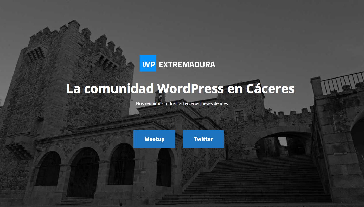 Meetup de WordPress  en Caceres (Extremadura)