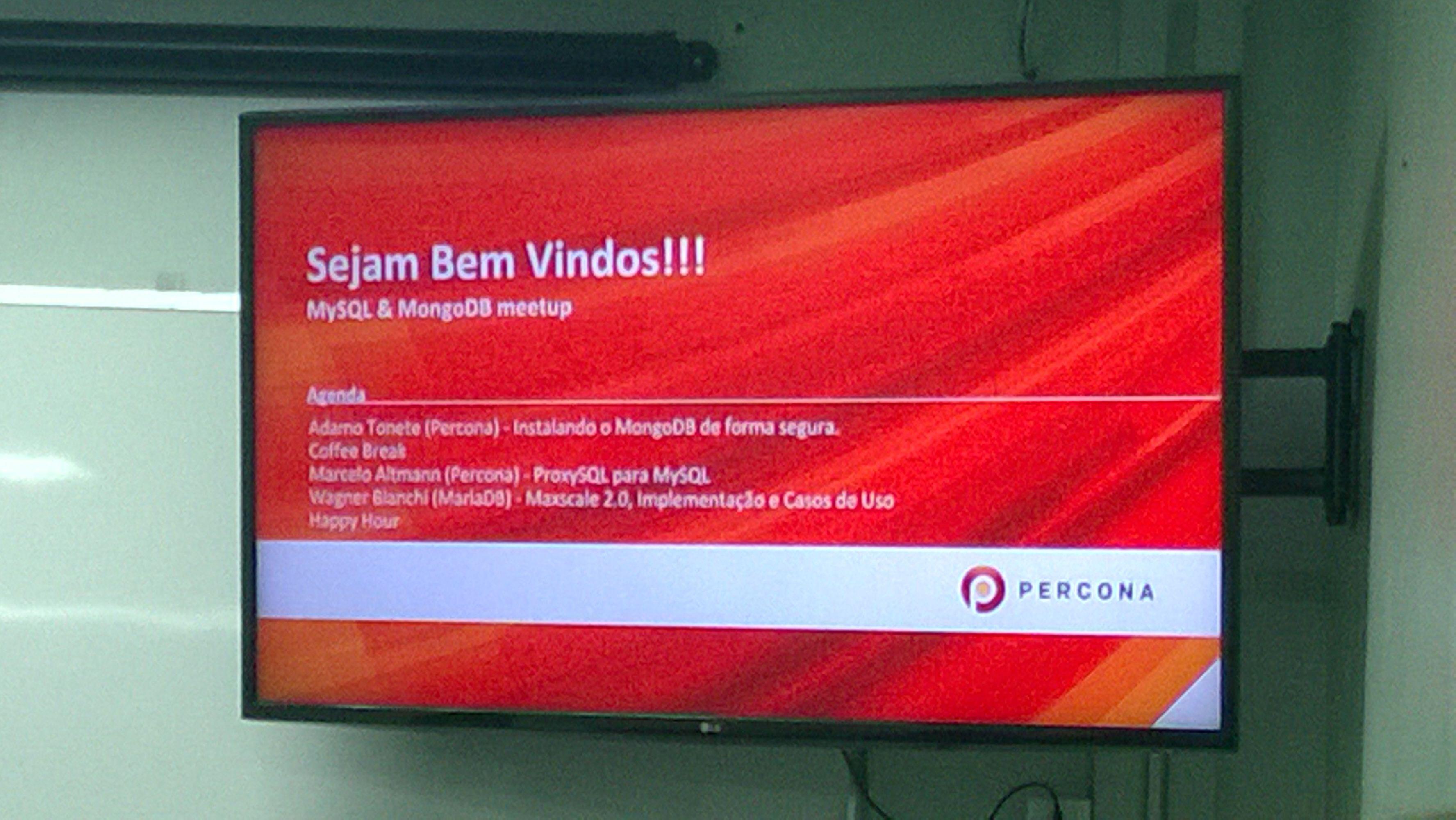 Percona Brasil / MySQL MongoDB PostgreSQL