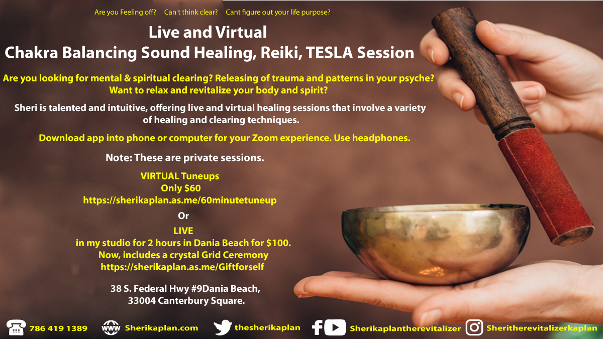 Chakra Balancing Sound Healing, Reiki, TESLA Session- Live in Person- By Appt