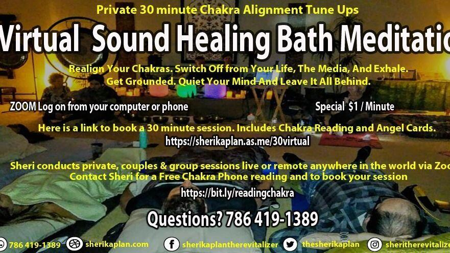 Virtual Sound Healing Bath Meditation Online on Zoom Live Stream by Appointment