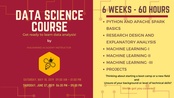Introduction to Data Science (6 weeks- 60 hours)