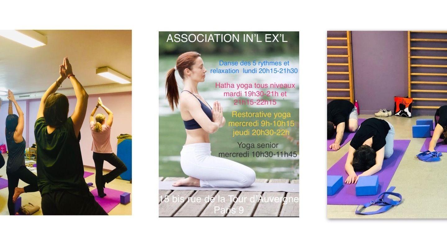 Hatha Yoga/ Restorative Yoga / Danse des 5 Rythmes Paris 9