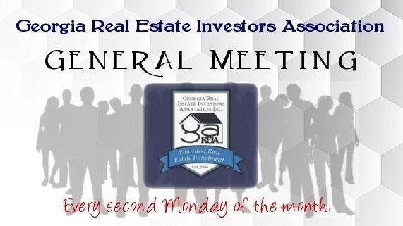 Georgia REIA Monthly General Meeting