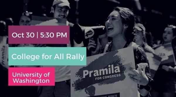 Community Event: College for All Rally at the UW @ University of Washington   Seattle   WA   US
