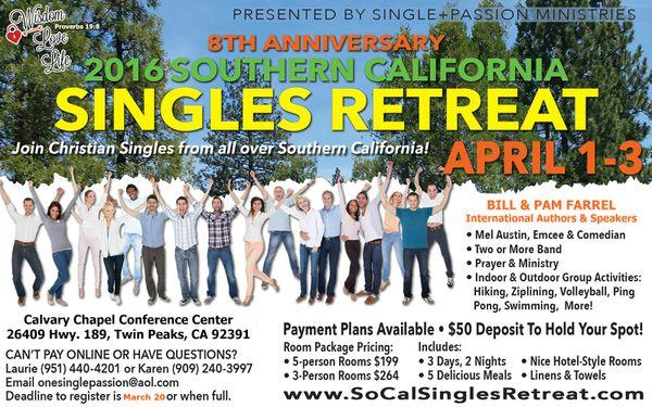 Texas christian singles retreat