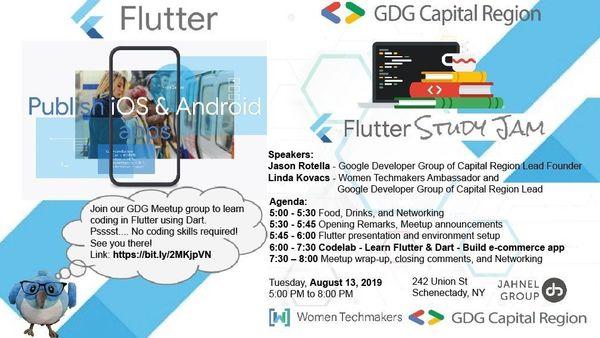 August monthly Flutter meetup - Join us!   Meetup
