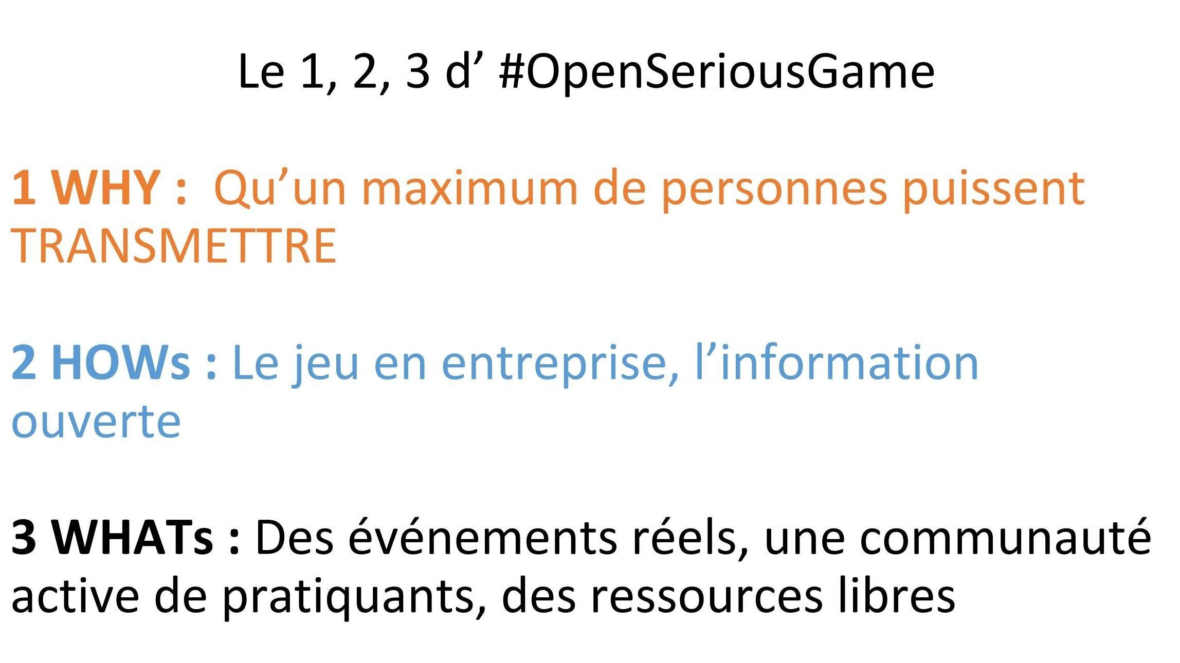 #OpenSeriousGame Paris