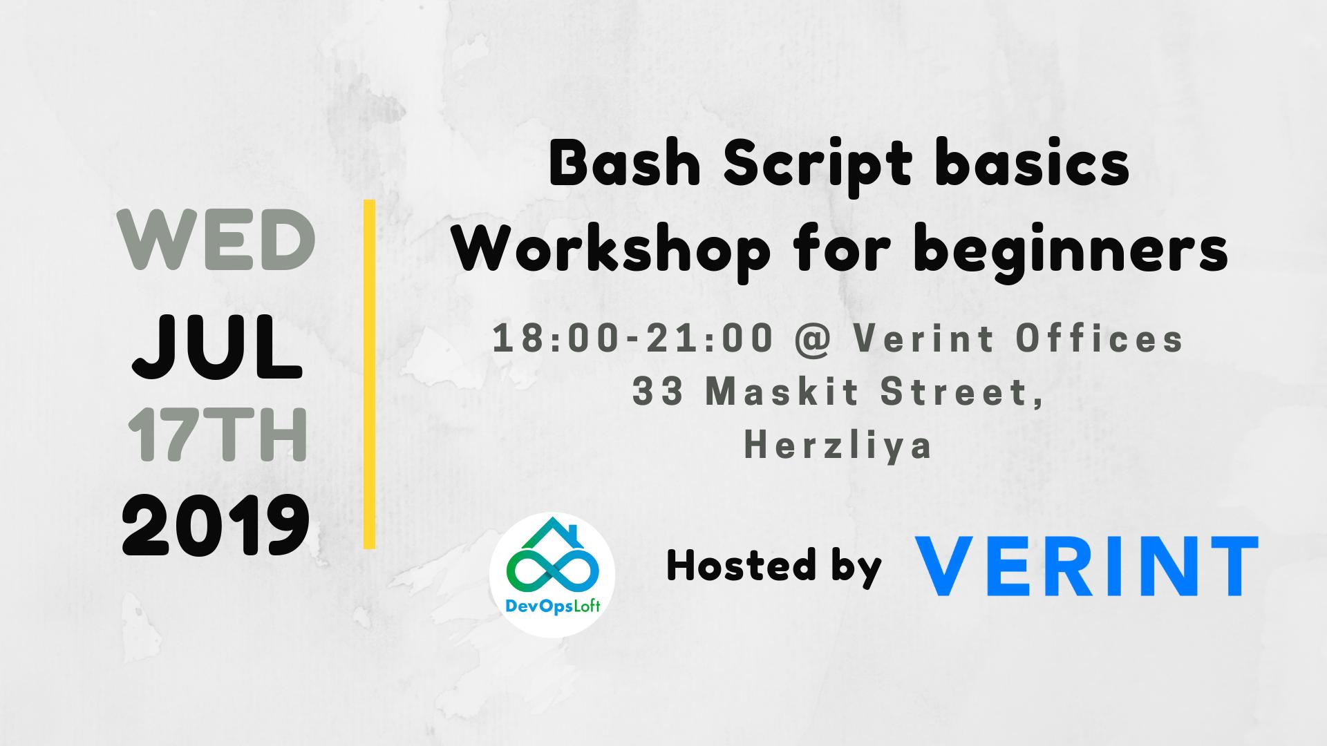 Bash Scripting basics - Workshop for beginners