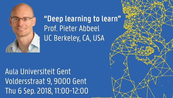 UGent Data Science Seminar: Prof  Pieter Abbeel | Meetup