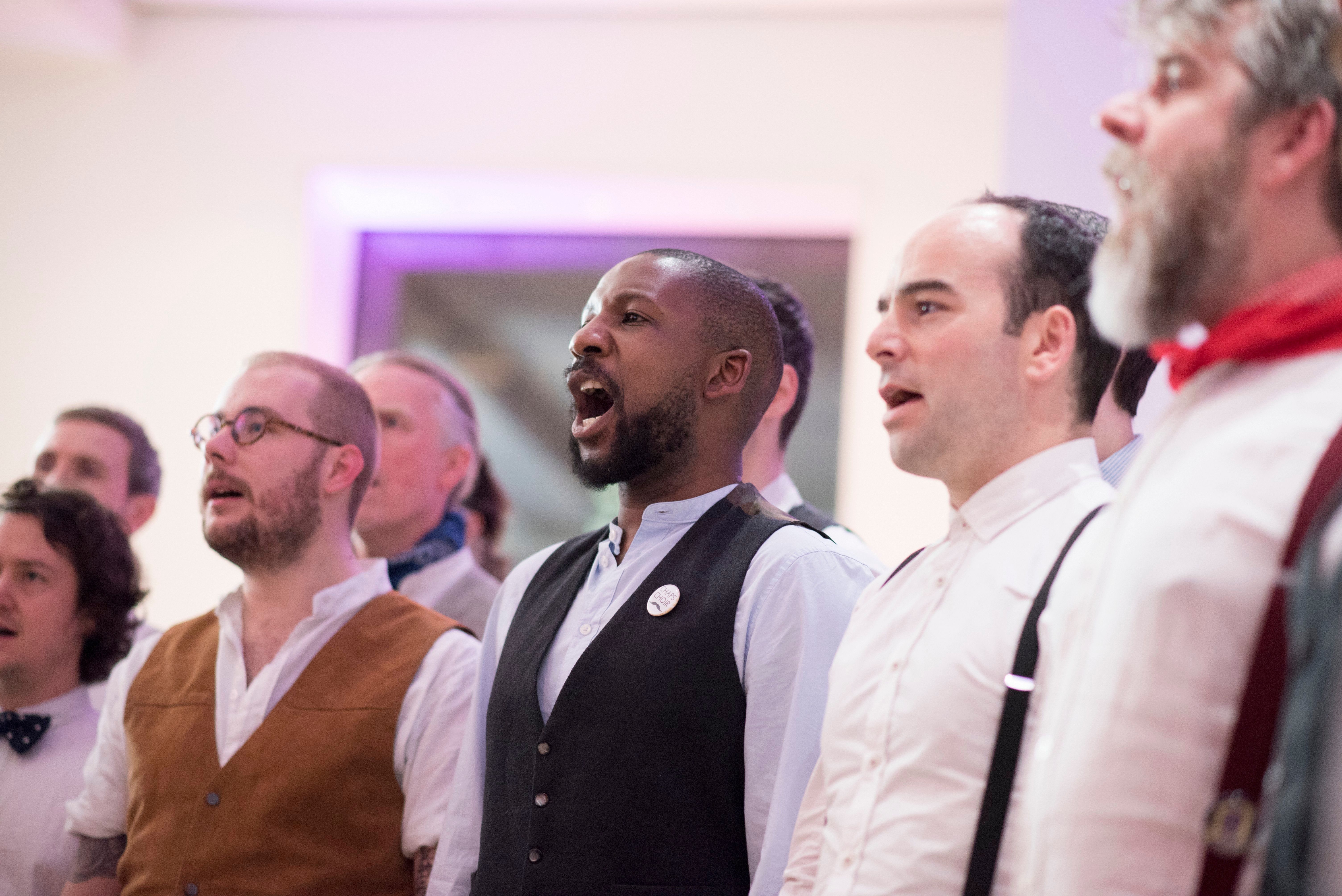 Singing workshops for men by Chaps Choir & Bellow Fellows