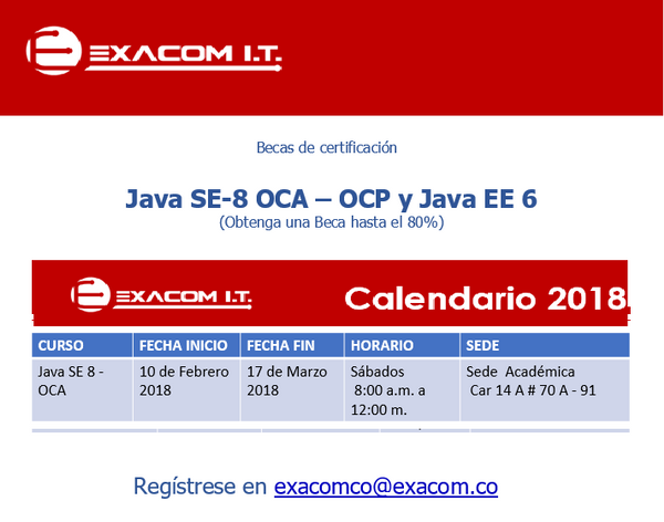 Photos - ORACLE Certificaciones Java SE 8 Programmer - OCA / OCP