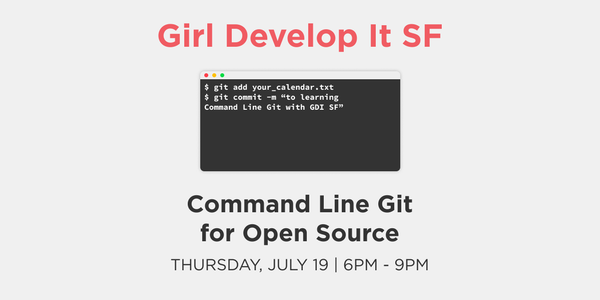 Command Line Git for Open Source