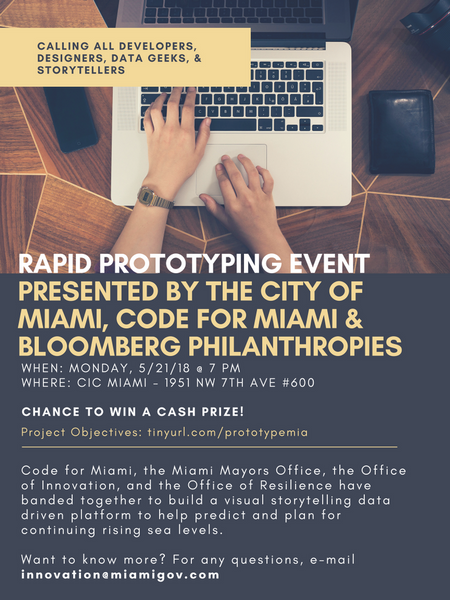 Rapid Prototyping Event With The City Of Miami Meetup