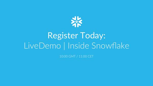Online meetup: Inside Snowflake | Meetup