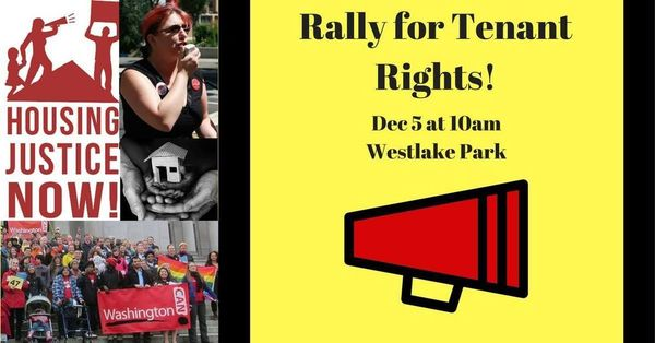 Community Event: Rally for Tenant Rights @ Westlake Park | Seattle | WA | US