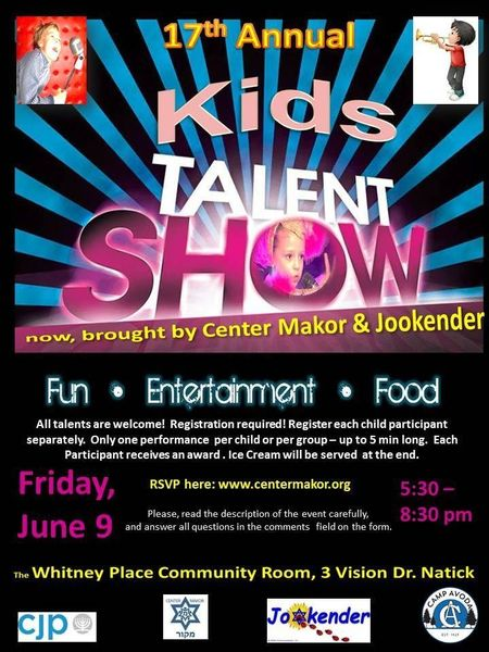Kids Talent Show! Apply Today! June 9, 2017
