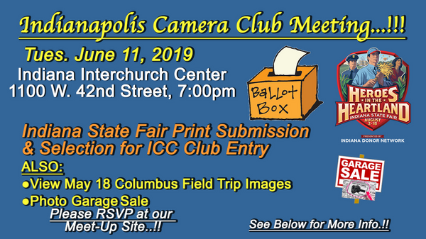 Indiana State Fair Print Submission & Selection for ICC Club Entry