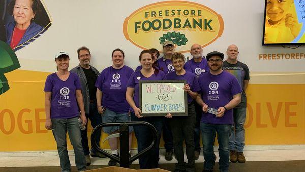 COR Volunteers at the Freestore Foodbank