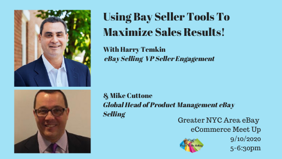 Using Ebay Seller Tools With Ebay S Harry Temkin Mike Cuttone Meetup