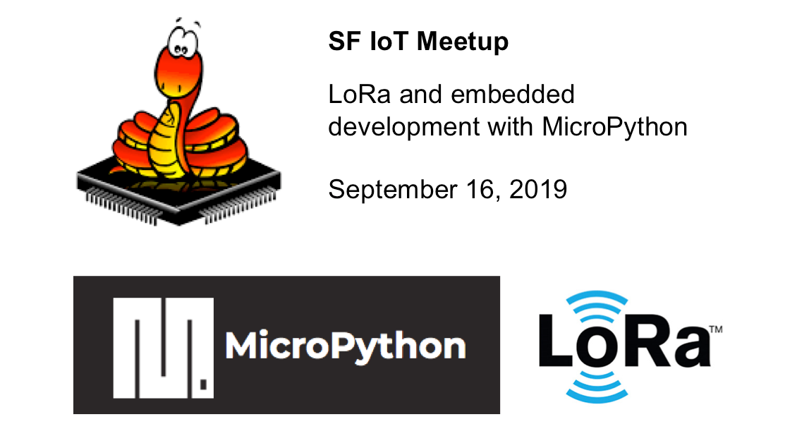 San Francisco Internet of Things Meetup (@SFIoTMeetup)