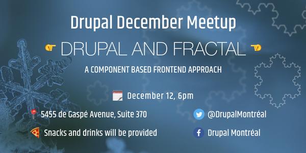 Information Drupal Meetup Décembre 2017