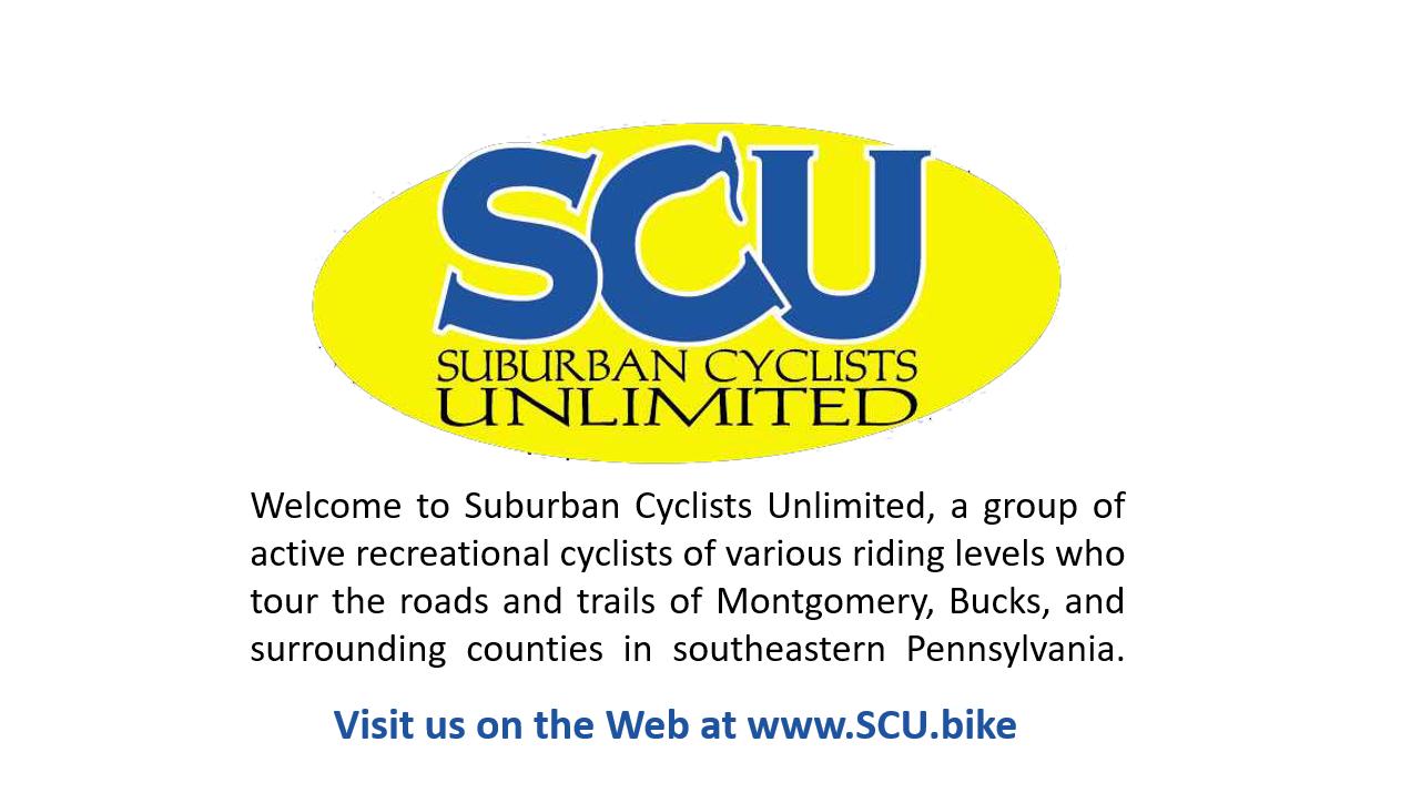 Suburban Cyclists Unlimited (SCU) Meetup