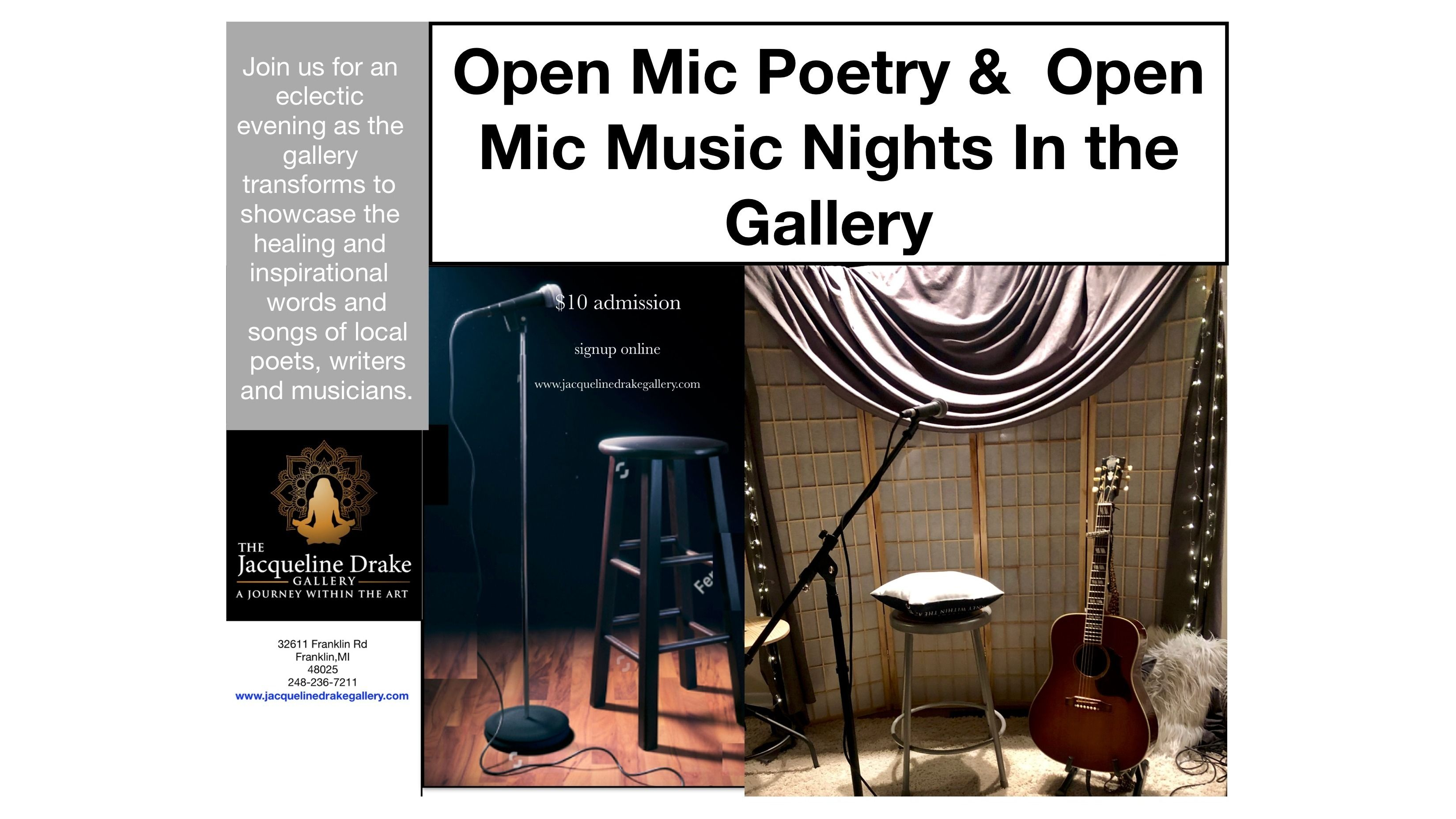 Open Mic Music Night In The Jacqueline Drake Gallery - A Journey