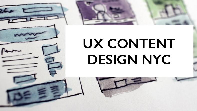 UX Content Design NYC