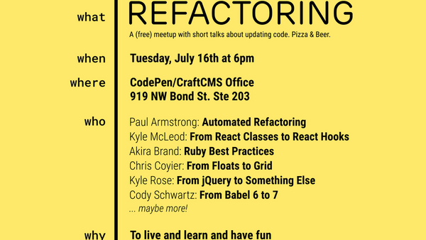 All about that REFACTOR! | Meetup