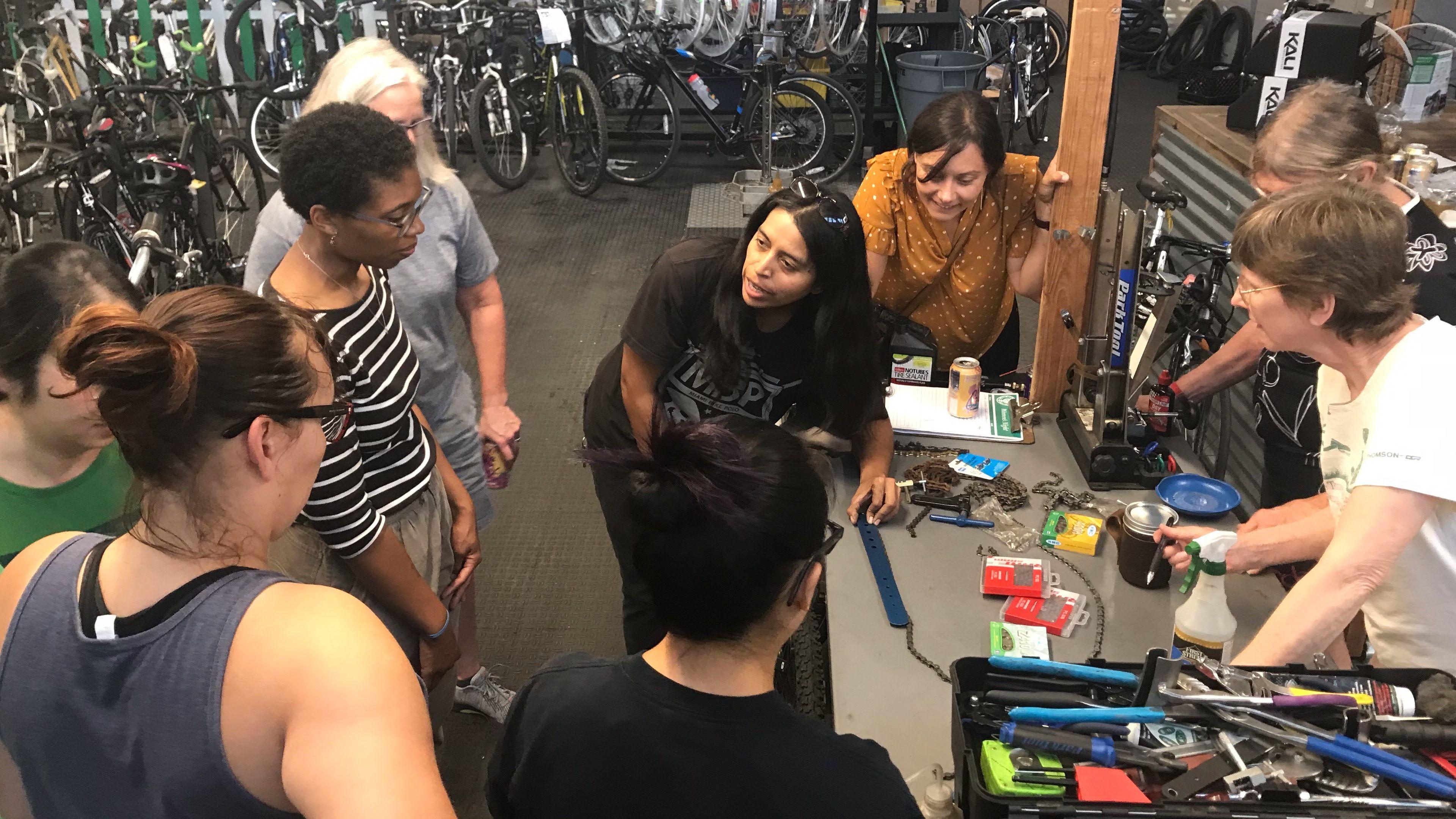 Women's Night Bicycle Clinic
