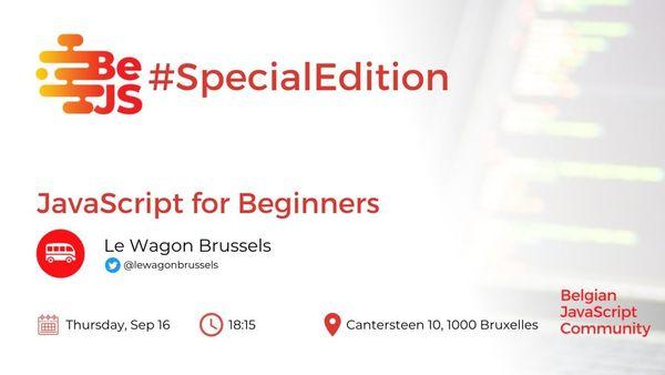 BeJS#SpecialEdition: JavaScript for Beginners (ONLINE)